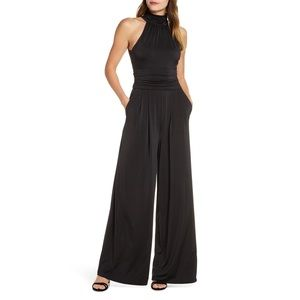 NEW! Eliza J Sleeveless Halter Jumpsuit